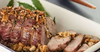 Marijuana Recipes: Chef Scott Durrah's Smoked Apple Glazed Roast Pork with Walnut Cannabis Leaf Stuffing