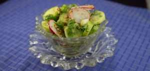 Marijuana Recipes - Cucumber Radish Salad