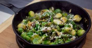 Marijuana Recipes - Roasted Lemon Parmesan Brussels Sprouts