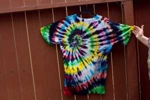 High Tie Dye -- beautiful spiral from a beginner dyer.