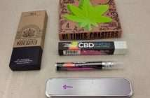 Cannabis Product Reviews: Bloom Farm, Bhang CBD Breath Spray, Genius Pipe, marijuana coasters