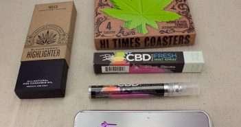 Cannabis Product Reviews: Bloom Farm, Bhang CBD Breath Spray, Genius Pipe, marijuana coasters
